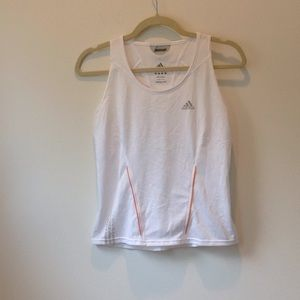 White work out tank top.